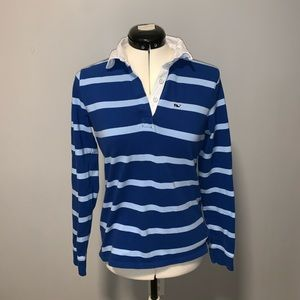 Vineyard Vines blue long sleeve rugby shirt, Sz S